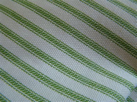 green home decor fabric green ticking stripe home decor weight fabric shabby chic