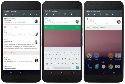 notifications android android n developer preview images with multi window data saver and more now available