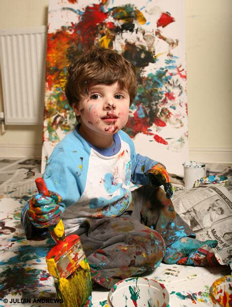 painting toddlers toddler fools the world into buying his tomato ketchup