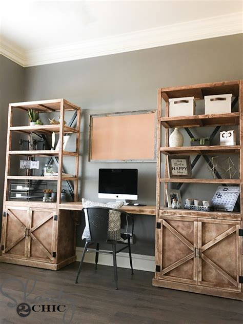 diy home office furniture diy office desk system shanty 2 chic