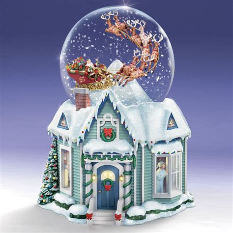 the thomas kinkade night before christmas snowglobe