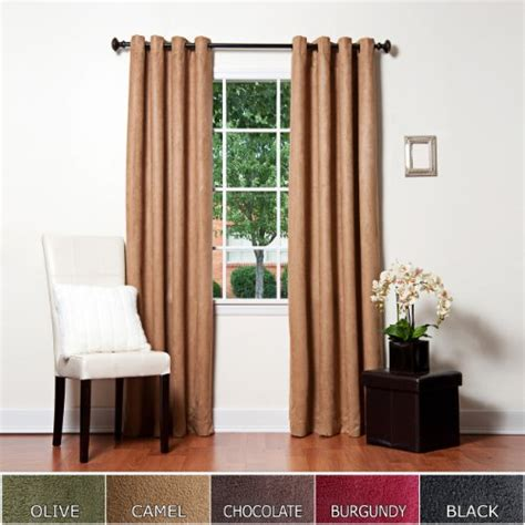 Faux Suede Blackout Curtains Best Home Fashion Thermal Insulated Faux Suede Blackout Curtains Antique Bronze Grommet Top