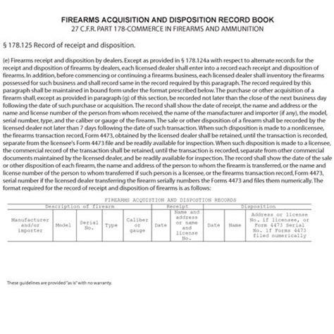 Bookfactory Ffl Bound Book Ffl Log Book Ffl Record Book Import It All Ffl Bound Book Template