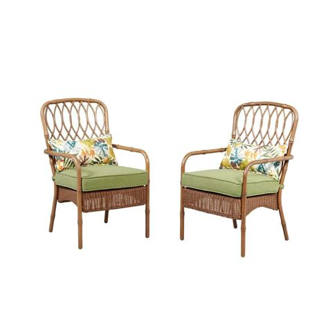 Hton Bay Clairborne Patio Dining Chair With Moss Patio Dining Chair Cushions