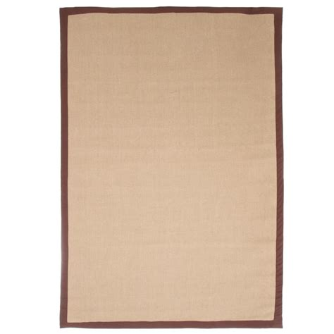 Trademark Jute Chocolate Border 5 Ft X 7 Ft 7 In Area Jute Rug 7