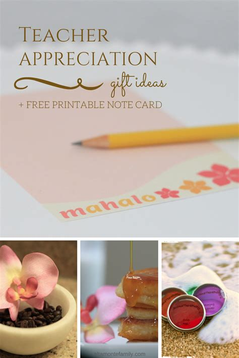 Gift Card Note Ideas - 3 teacher appreciation gift ideas free printable note card