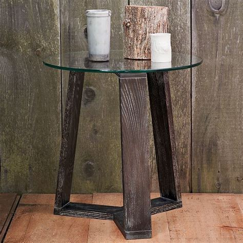 new ion glass side table modern side tables and