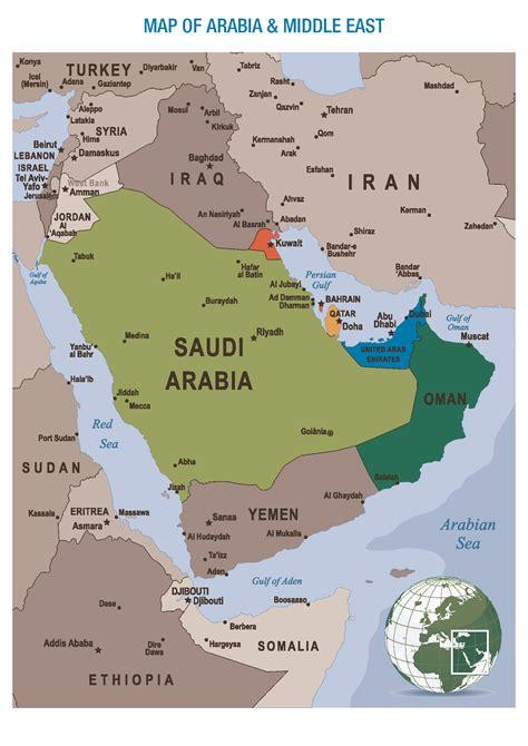 map of arab gulf states map of arab gulf states travel maps and major tourist