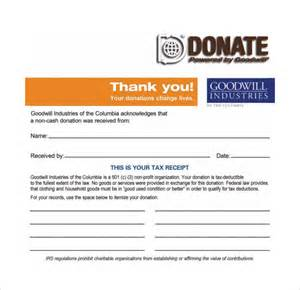Salvation Army Donation Receipt Template by Sle Donation Receipt Template 17 Free Documents In