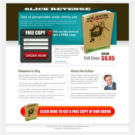 sales landing page template e book landing page design templates to increase sales of