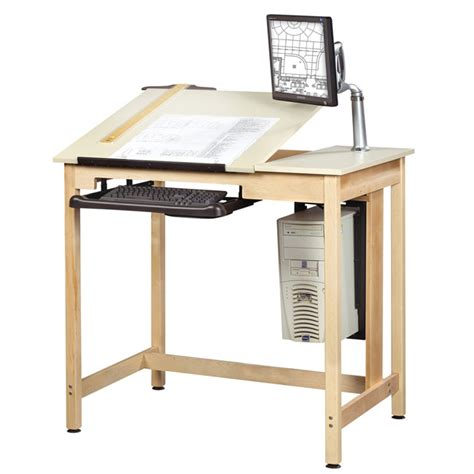 shain split top school drawing computer table by shain
