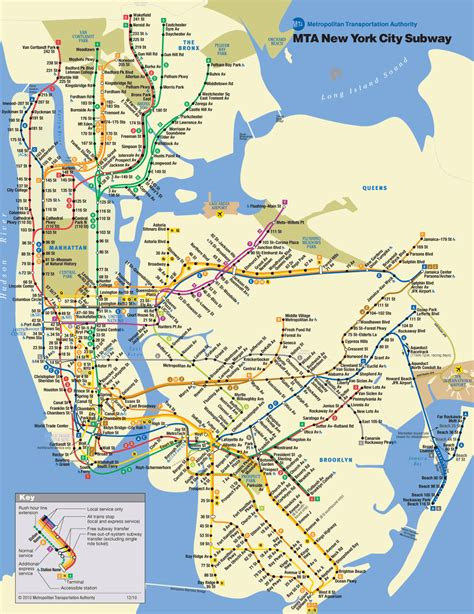 subway map in nyc new york city subway map