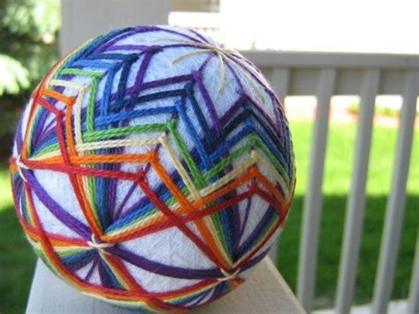 rainbow decorative balls ornament hand embroidered thread ball japanese temari