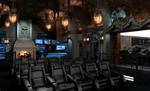 Home theater design batman movie themed home design and interior