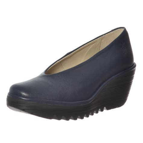 womens fly yaz wedge office school court shoes low