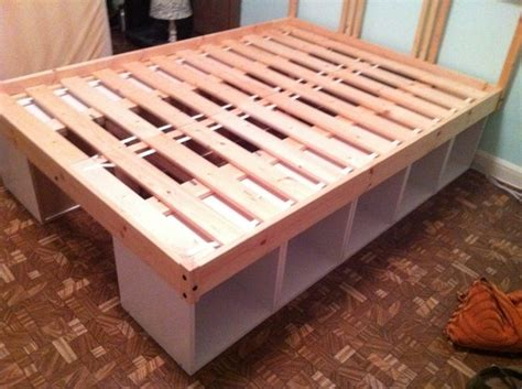 ikea hack bed frame diy storage bed i would love this for all our bedrooms