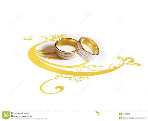 Eheringe Verbunden by Hochzeitsringe Mit Dekorativer Abbildung Stock Abbildung