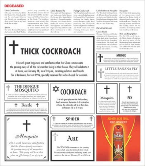 obituary section musings of a restless mind brilliant print advertisements