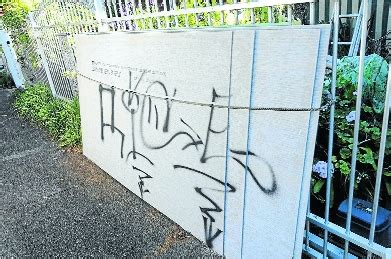 spray painter taree taree residents frustrated by graffiti attacks manning