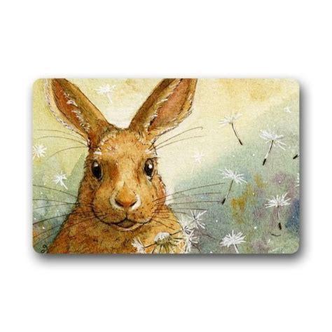 Rabbit Doormat by Machine Washable Door Mat Rabbit Indoor Outdoor Decor Rug