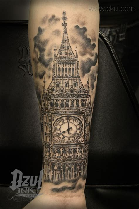 big ben tattoo best architecture big ben best black and