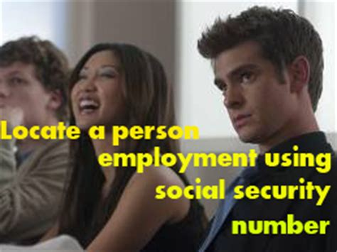 Search Using Social Security Number Locate A Person Employment Using Social Security Numbersearchbug