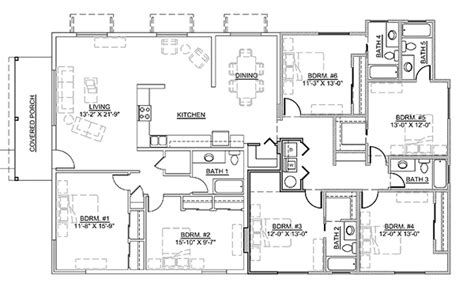 6 bedroom floor plan 6 bedroom floor plans thefloors co