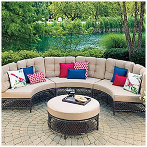 view wilson fisher 174 capri resin wicker patio set deals