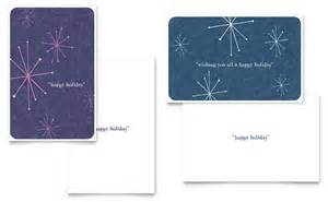 snowflake wishes greeting card template word publisher