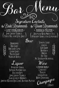 custom wedding chalkboard sign bar drink menu 24