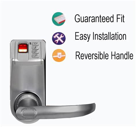 Adel 3398 Biometric Fingerprint Door Lock - fingerprint door lock access adel 3398 handle