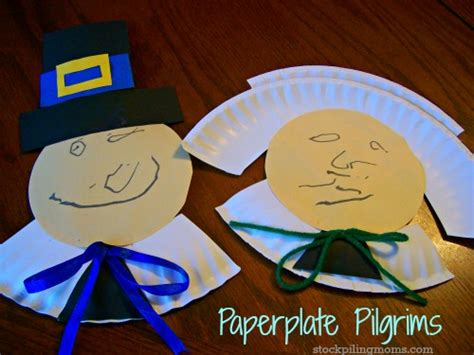 Pilgrim Paper Plate Craft - paperplate pilgrims