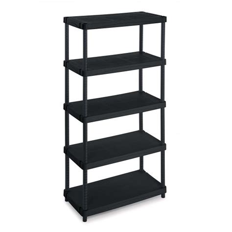 modular outdoor resin 5 shelves unit 100x50x188