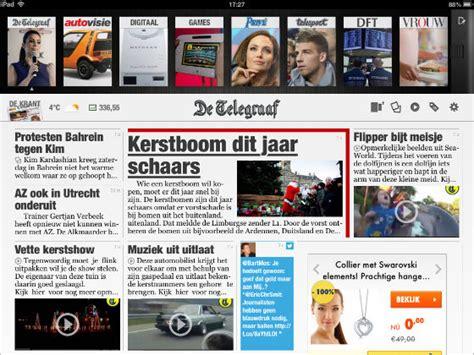 layout krantenartikel telegraaf lanceert nieuwe ipad app technieuws