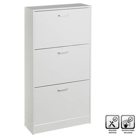 mueble zapatero de madera mueble zapatero de 3 puertas de madera blanco cl 225 sico