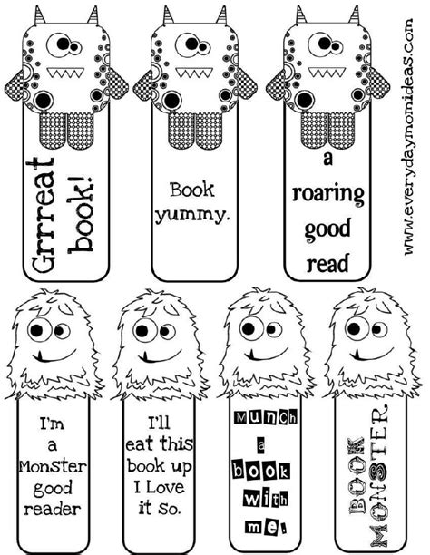 printable bookmarks to make free coloring pages of bookmark children