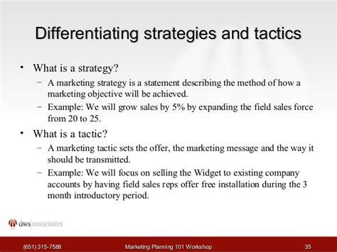 strategy statement template marketing planning workshop