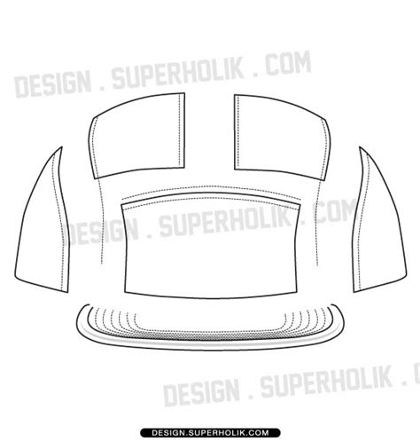 fashion design templates vector illustrations and clip arts5 panel hat template fashion