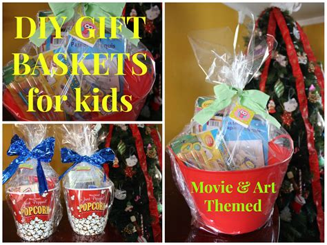 diy movie art themed gift baskets for kids budget friendly