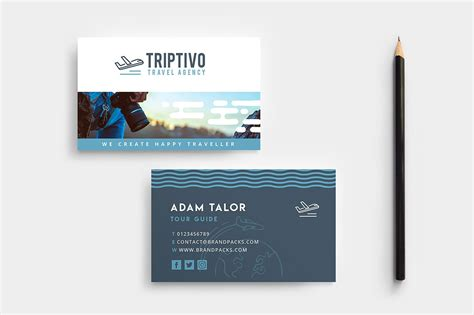 Graphicriver Travel Agency Business Card Design Template by Travel Tour Guide Business Card Template