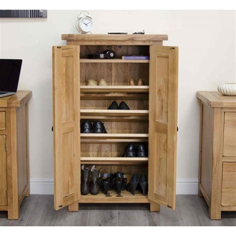Oak Shoe Storage Cabinet Original Rustic Solid Oak Furniture Shoe Storage Cabinet Cupboard Unit