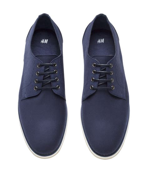 shoes h m lyst h m derby shoes in blue for