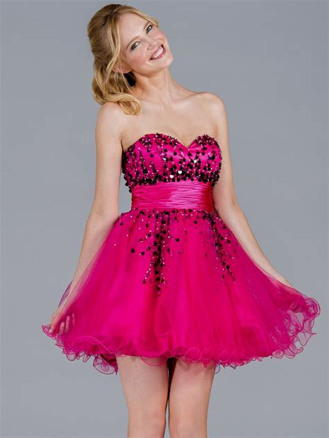 pink cocktail pink and black prom dresses dress yp