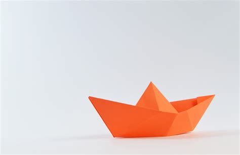 A Paper - free stock photo of boat folding origami
