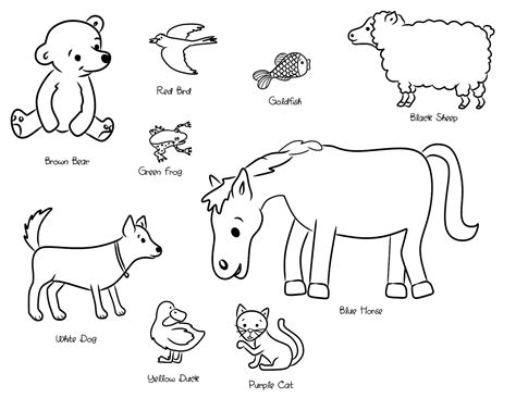 coloring pages for brown bear by eric carle brown bear eric carle animals coloring pages coloring