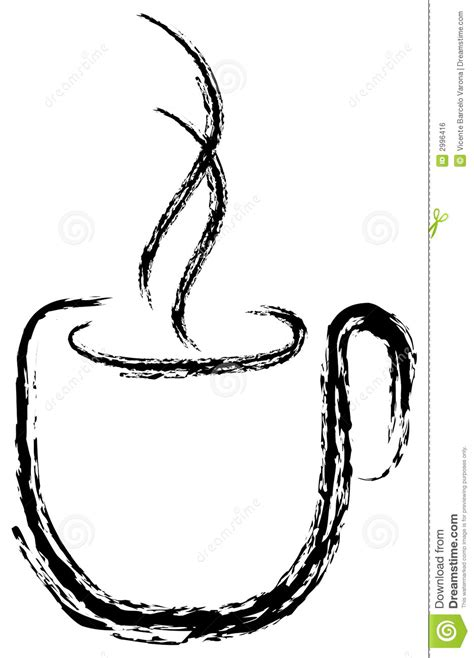 coffee cup silhouette cup of coffee silhouette stock vector image of liquid