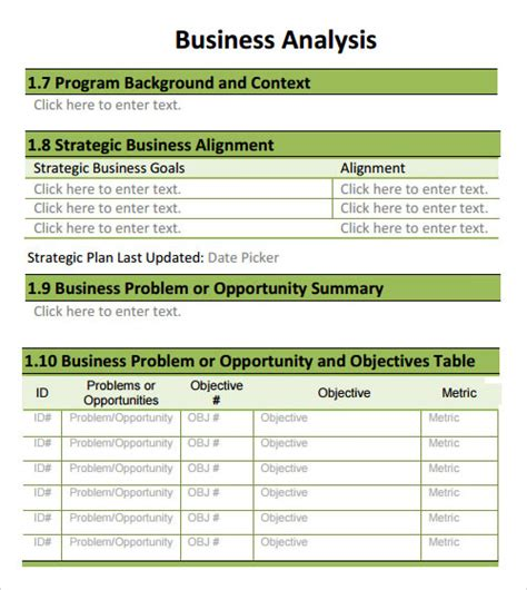 business analysis plan template analysis template 19 free documents in pdf