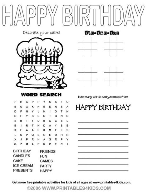 happy birthday coloring pages games happy birthday esl the teaching stuff pinterest