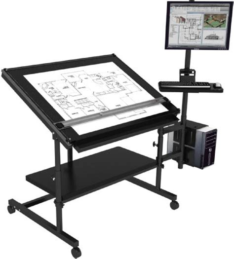 Where Can I Buy A Drafting Table Professional Drafting Table 48x36 Black Frame Black Surface Best Buy Trong160520143