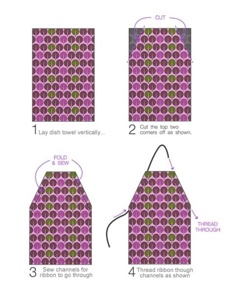 apron pattern from dish towel easy dish towel apron for children factory direct craft blog